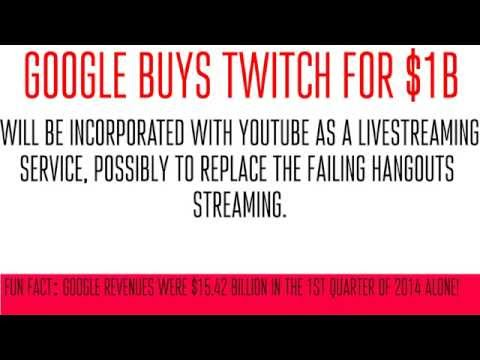Google Buys Twitch for $1 Billion!