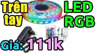 Mở hộp cuộn dây đèn Led nhiều màu RGB kèm remote giá 111k
