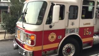 PFD LADDER 15 & PFD ENGINE 71, PHILADELPHIA FIRE DEPT,  RESPONDING ON FOULKROAD ST. IN PHILADELPHIA.