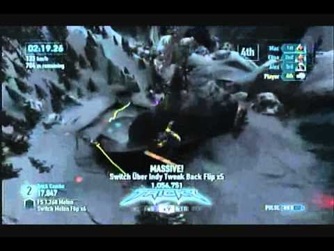 Lets Play SSX 2012 World Tour part 10 New Zealand [Blind] - Hole Failatude Batman!