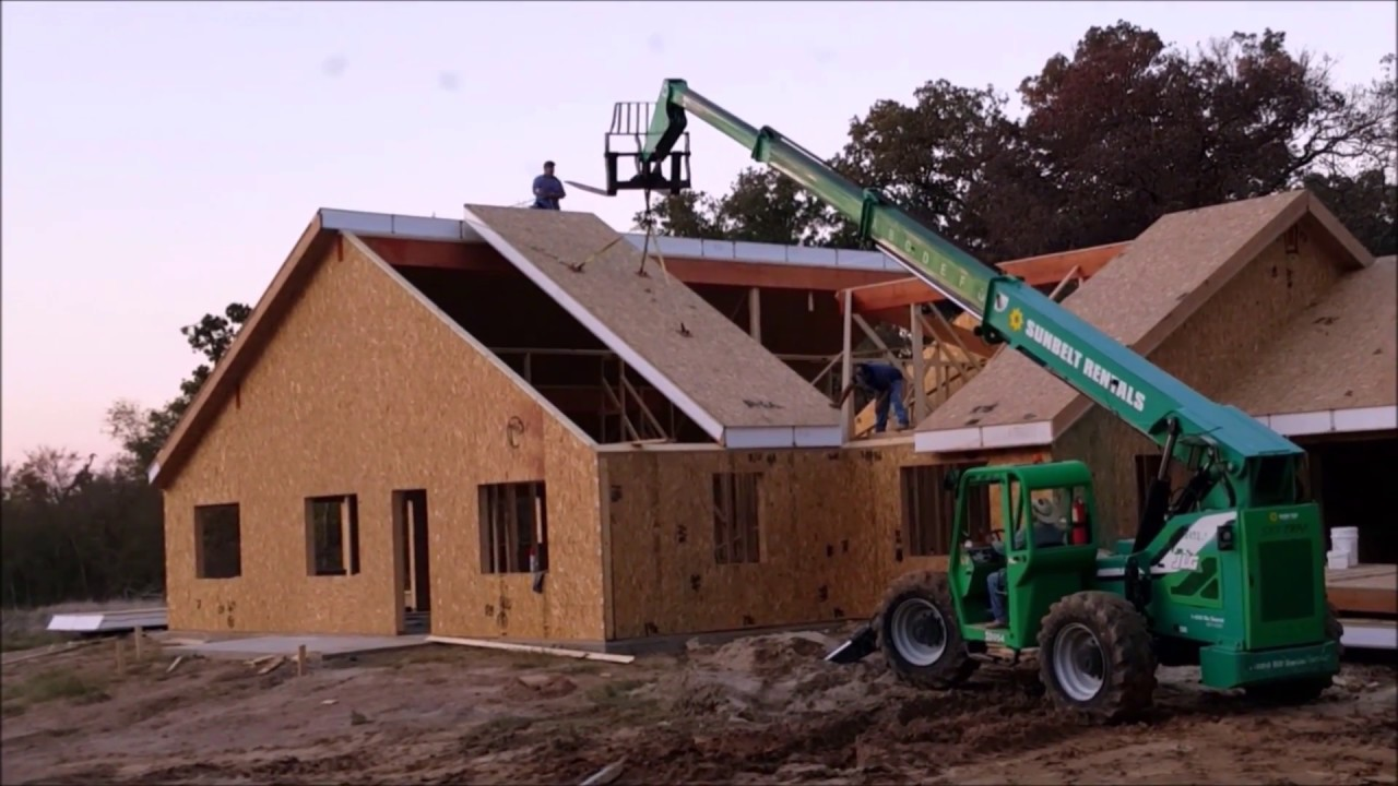 Video 7 sip house construction youtube for House building contractors