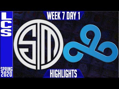 TSM vs C9 Highlights   LCS SPring 2020 W7D1   Team Solomid vs Cloud9