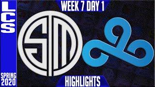 TSM vs C9 Highlights | LCS SPring 2020 W7D1 | Team Solomid vs Cloud9