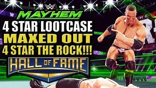 WWE Mayhem - Maxed Out 4 Star The Rock!!! Hall of Fame Event, 4 Star Lootcase Opening