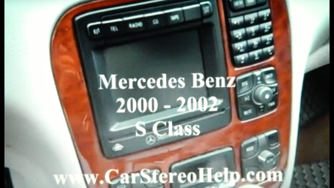 how to mercedes benz s class bose stereo removal 2000 2002 replace repair [ 1280 x 720 Pixel ]