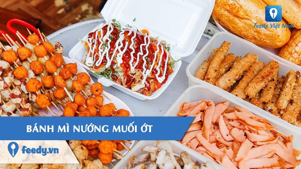 [Review Món Ăn] Mở hộp BÁNH MÌ NƯỚNG MUỐI ỚT đầy ú ụ khu Văn Quán, Hà Nội | Feedy TV