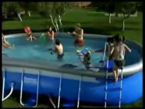 piscina ovale bestway fast set pool 1 youtube