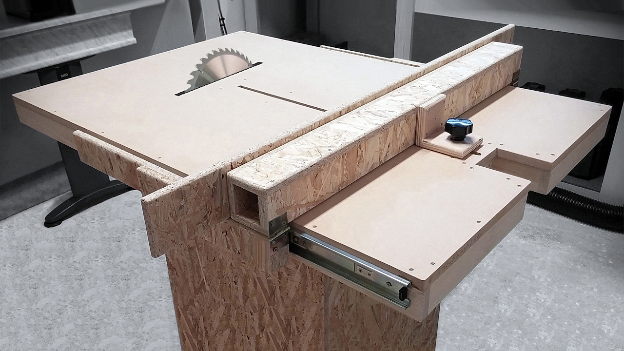 Homemade Table Saw Fence Mechanism Youtube