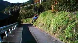 この区間の車輌移動は非常に困難で危険です* 有田郡有田川町で見つけた...