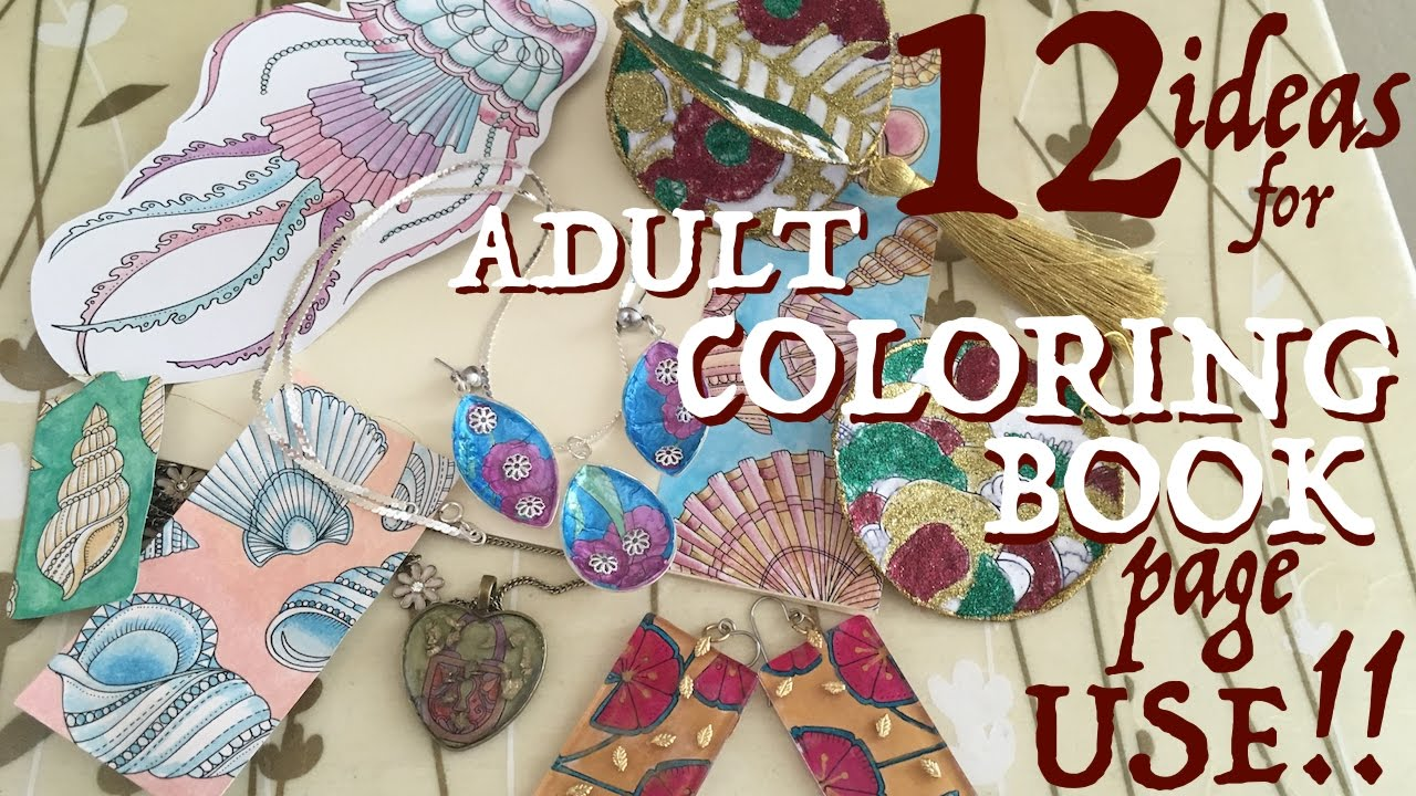 12 Adult Coloring Book Project Ideas! - YouTube