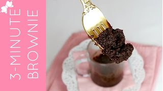 3-minute Microwave Molten Brownie In A Mug (egg-free, Dairy-free, Delicious)