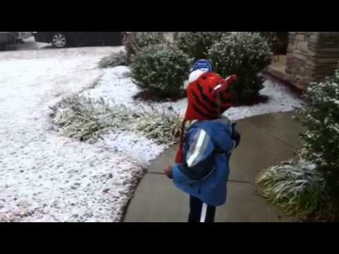 Christmas snow in Atlanta Georgia