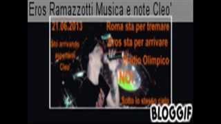 21 Giugno Roma  2013  Stadio Olimpico Noi Sotto lo stesso cielo Eros -Questo immenso show