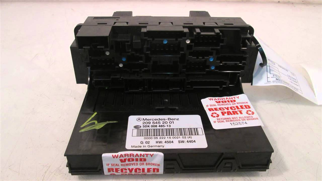 hight resolution of 2006 mercedes c230 fuse box front sam mod 2095452001 mbiparts com used oem mercedes parts oem youtube