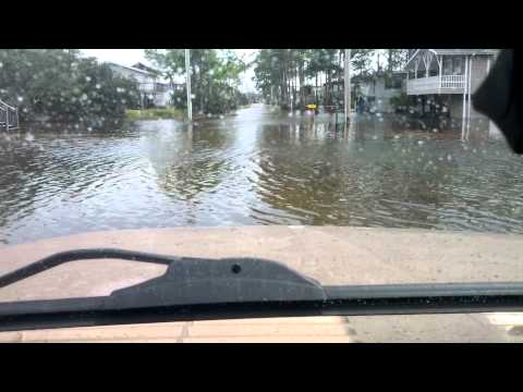 Driving down street in gulf shores after Isaac