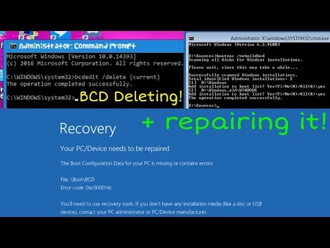 BCD Deleting + repairing! (For fun!)