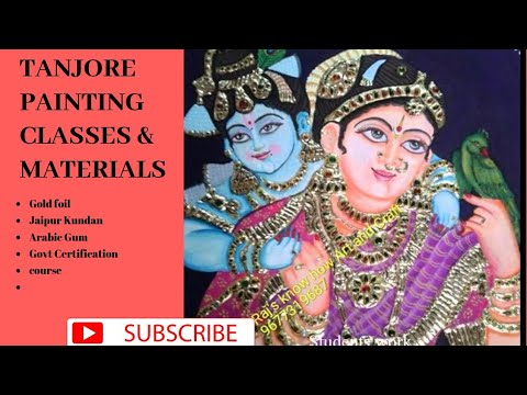 Tanjore Painting classes and materials in madurai