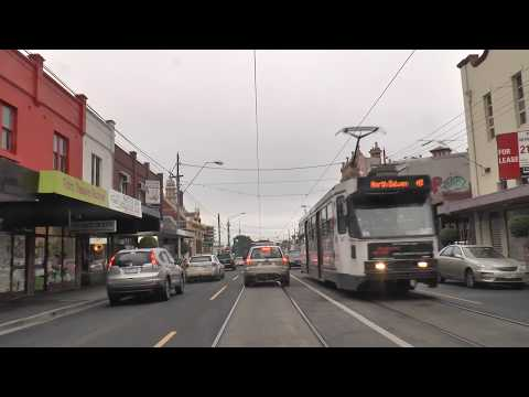 Melbourne Tram Driver View Route 24 from North Balwyn 2013