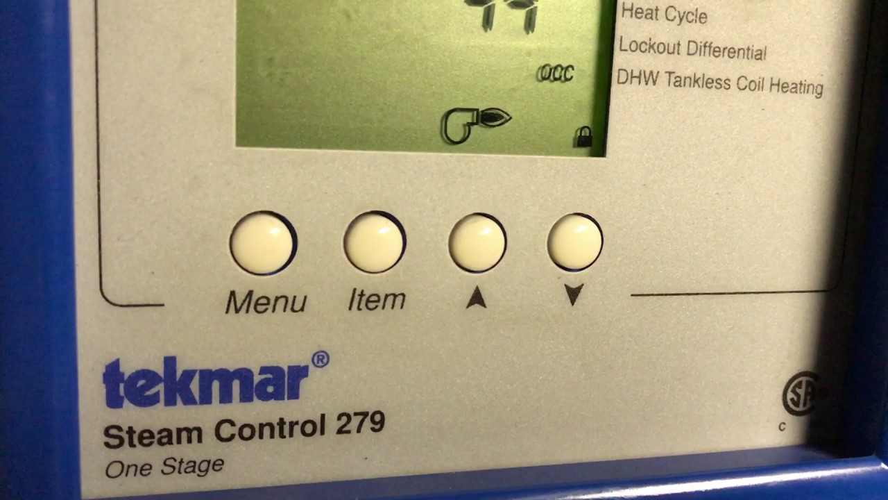 medium resolution of setting of tekmar 279 steam outdoor reset
