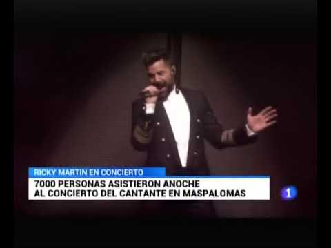 Ricky Martin subió ayer la temperatura de Maspalomas en el concierto de su último trabajo 'Fiebre'