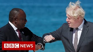 Second day of G7 summit with world leaders in Cornwall - BBC News