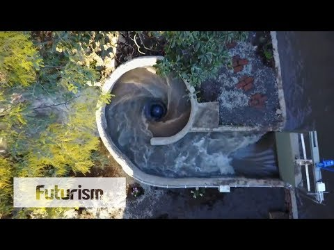 Man-Made Whirlpool Generates Electricity