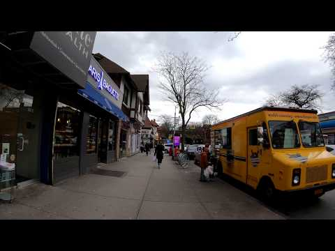 ⁴ᴷ⁶⁰ Walking NYC : 71st Avenue / Continental Avenue, Forest Hills, Queens