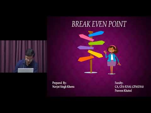 Break Even Point  COST Revision by CA,CFA(USA),CPA(USA) Praveen Khatod