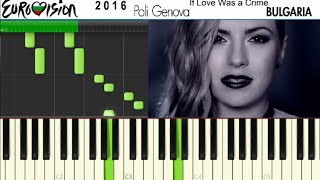 Eurovision 2016 Bulgaria Piano Tutorial (Synthesia) - Poli Genova If Love Was a Crime