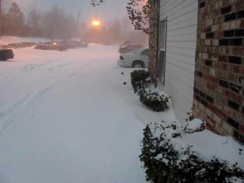 Historical blizzard in Oklahoma City