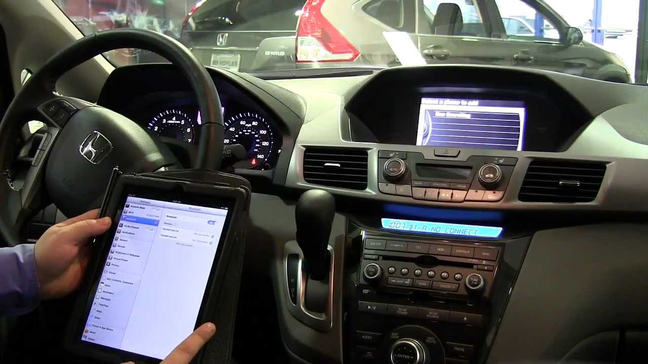 How To Pair An Ipad To Your 2013 Honda Odyssey Youtube