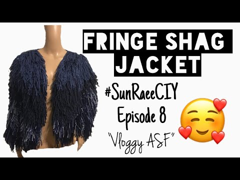 Crochet Fringe Shag Jacket| #SunRaeCIY episode 8| Vloggy asf