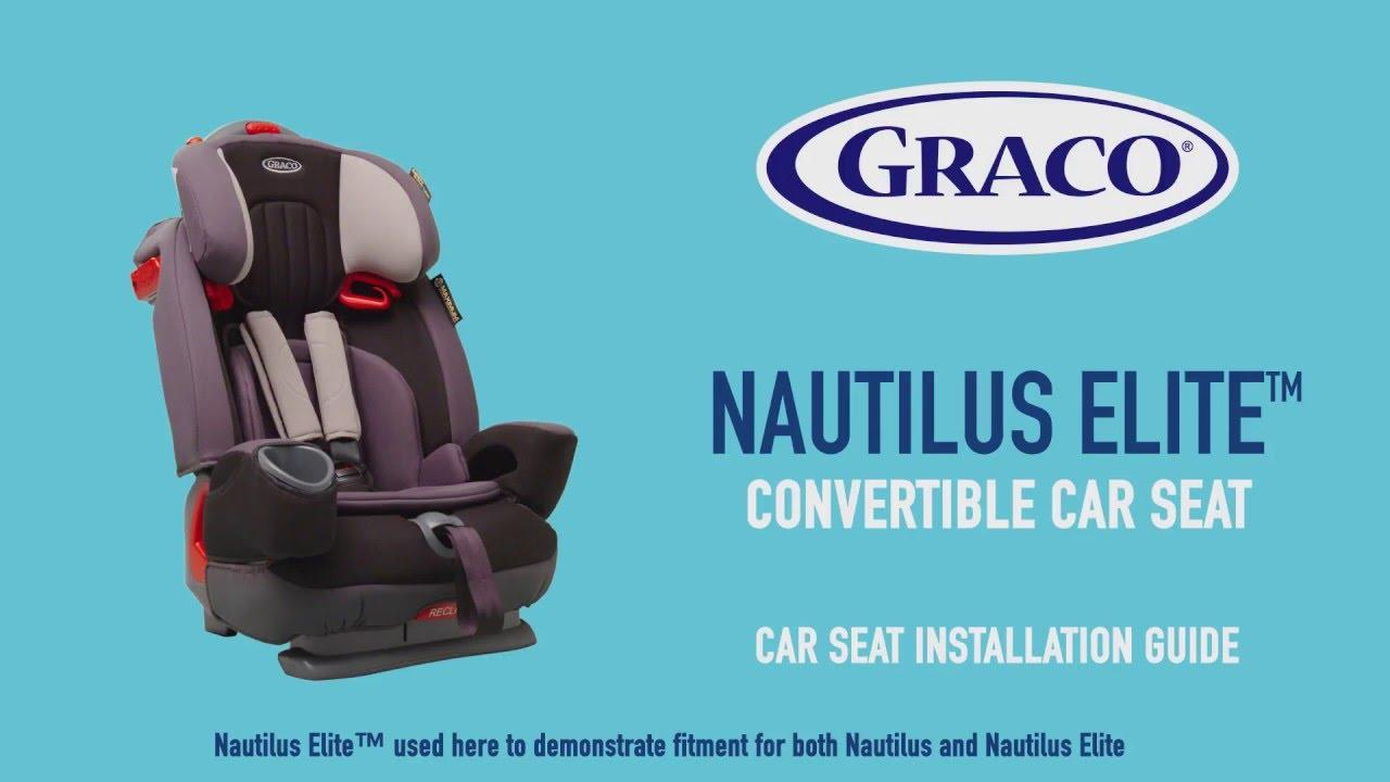 GRACO Nautilus Elite Car Seat Installation Guide