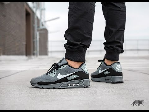 new style 2e182 03bee Unboxing & On feet - 2018 Nike Air Max 90 Ultra Essential Grey - Wolf