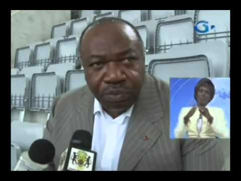 RTG / Ali Bongo Ondimba sur le chantier du stade omnisport Omar Bongo