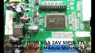 HDMI+VGA+2AV LCD display driver board куплен в магазине Banggood