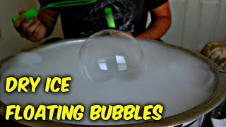 Dry Ice Floating Bubbles - Science Experiment