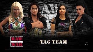 WWE 2K17 - Nia Jax and Alexa Bliss VS AJ Lee and Tamina