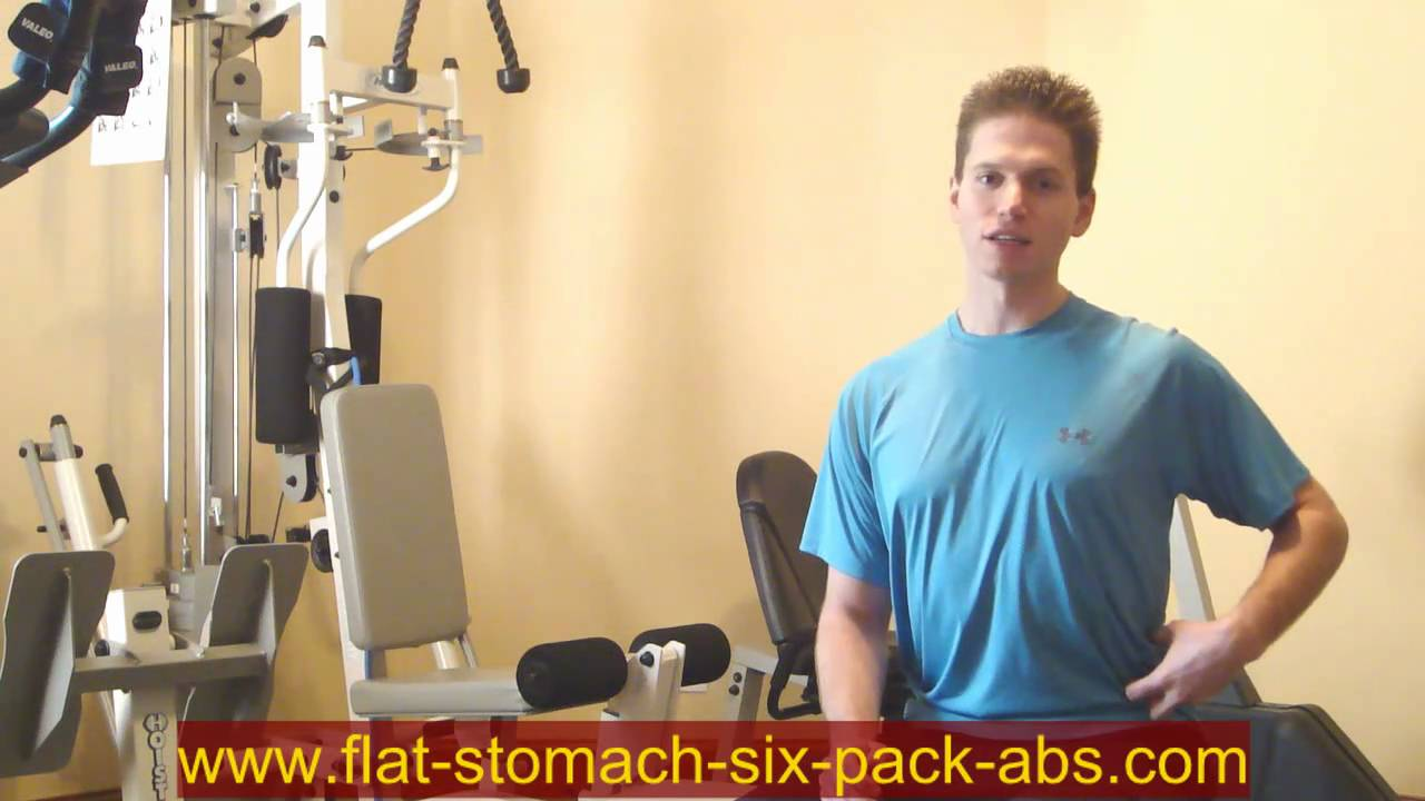 how to get a six pack with a dumbbell