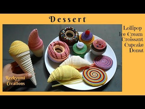 DIY Kokoru Paper Craft : How to Make Lollipop - Ice Cream - Croissant - Cupcake - Donut