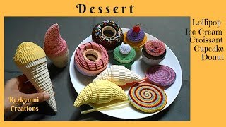 Download Video DIY Kokoru Paper Craft : How to Make Lollipop - Ice Cream - Croissant - Cupcake - Donut MP3 3GP MP4