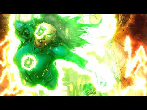 Green Lantern Animated Comic Book Background (1 Hour)