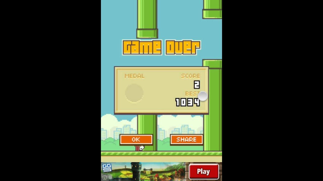 Flappy Bird - High Score OVER 1000 - 1034 [Previous World ...