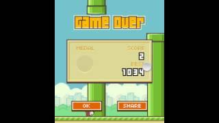 Flappy Bird - High Score OVER 1000 - 1034 [Previous World Record] thumbnail