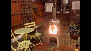 how I made a Chiminea from a Propane gas cylinder