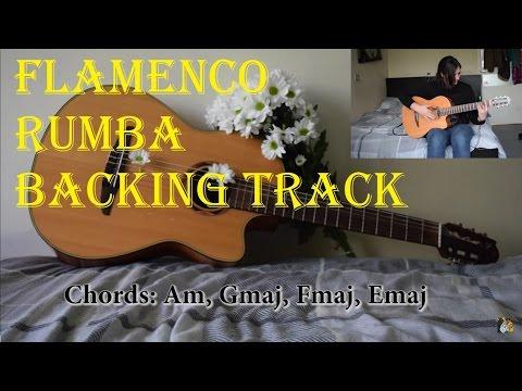 Rumba flamenco guitar backing track in Am - Backtrack 1