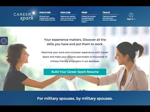 career spark a resume tool for military spouse by military