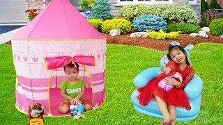 Van Pretend Play with Magic Princess Playhouse Tent Toy, BaBiBum