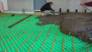 crete heat insulated floor panel systems