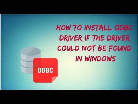 Microsoft Access Driver (*.mdb, *.accdb) ODBC Driver could not be found.